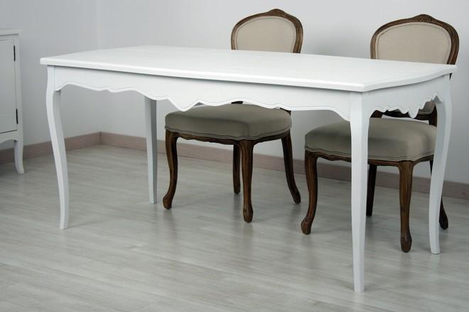 Mesa blanco lacado - Mesitas de noche clasicas ...