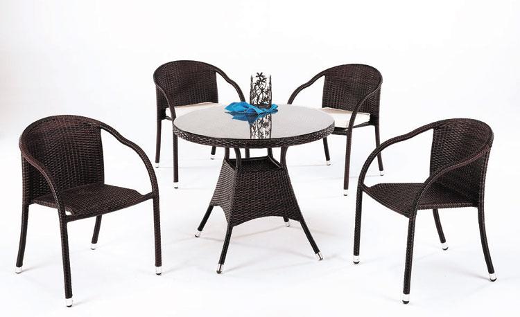 Mesa redonda de jard n modelo marina y sillones for Ofertas sillas de jardin