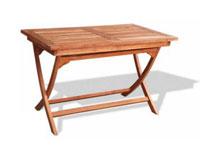 Mesa de teca rectangular plegable PUEBLA