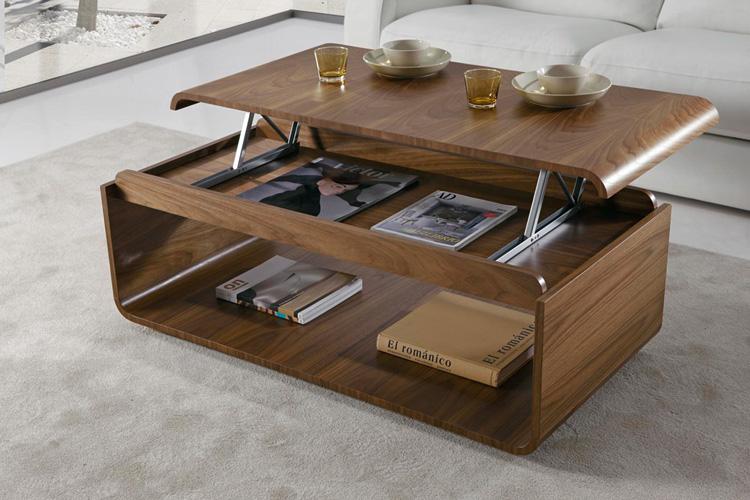 Mesa de centro vintage color nogal - Mesa de salon elevable ...