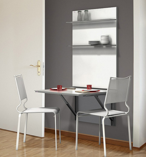 Mesas con plaf n for Mesa abatible cocina