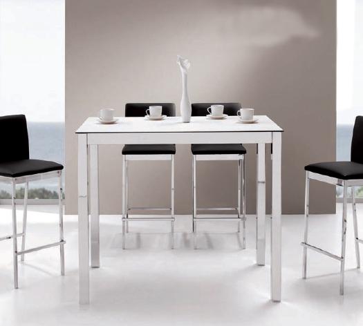 Mesa comedor alta o de cocina for Mesa cocina blanca