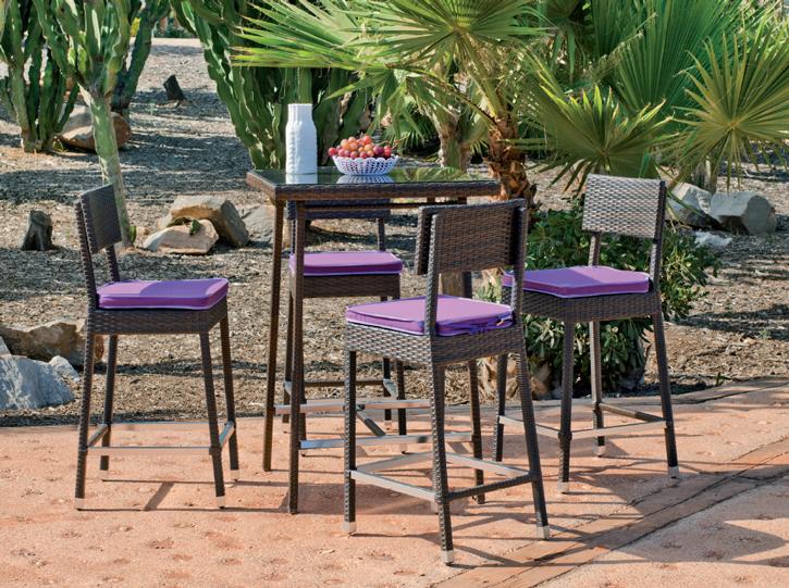Set exterior ratan mesa estilo bar verano getafe boadilla for Mesas y sillas para exterior