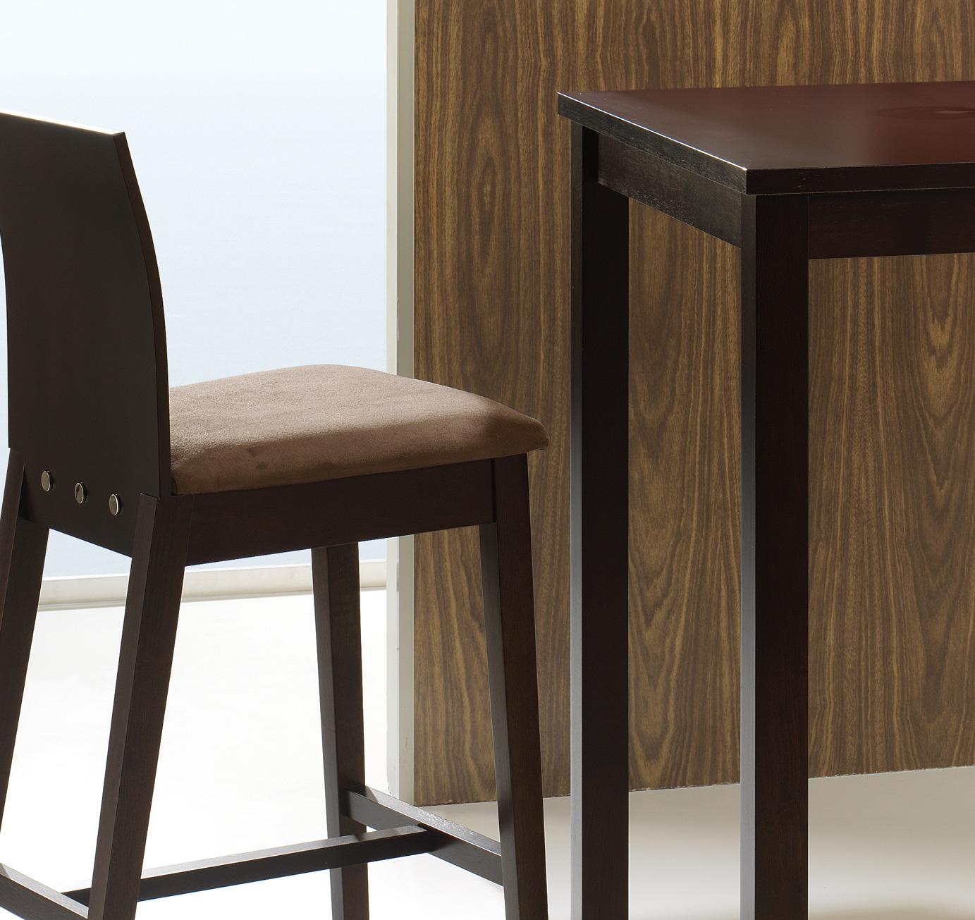 Mesa alta y taburetes con respaldo cocina y office mesas - Mesas cocina altas ...