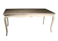 Mesa de madera Blanco roto estilo clásico