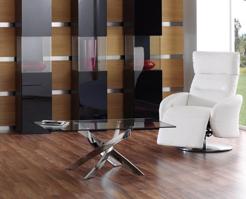 Mesa comedor acero y cristal car interior design - Mesas acero y cristal ...