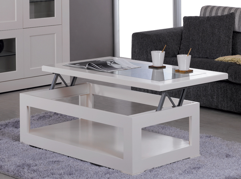 Mesa elevable con puff ikea for Mesa de centro elevable