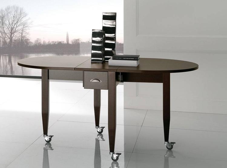 Mesa plegable y extensible madera de haya maciza - Mesas elevables y extensibles ...