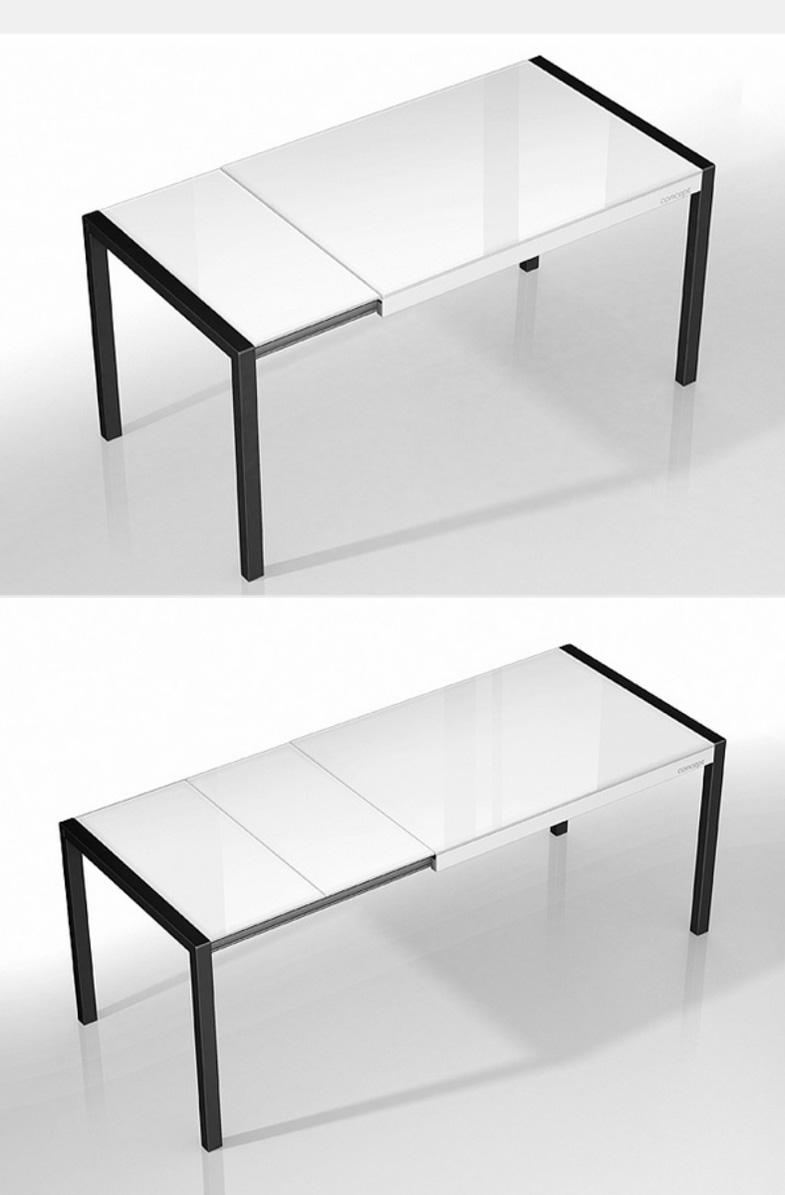 Mesas de cocina extensibles de colores for Mesa 80x80 extensible a 120