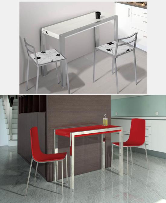Mesa de cocina extensible cocina y office mesas altas - Mesas de cocina tipo barra ...