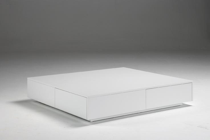 Mesa de centro cuadrada lacada mesas bajas de sal n for Mesa salon cuadrada