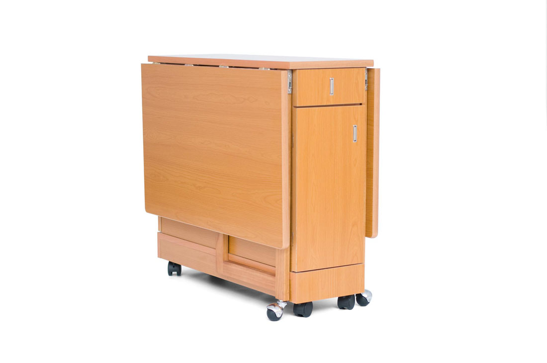 Mesa de alas cocina con cajones cocina y office mesas y for Mesas y sillas de cocina de madera