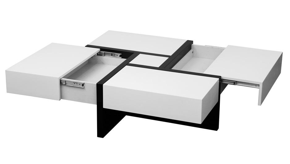 Mesa de centro cuadrada moderna for Mesa cuadrada moderna