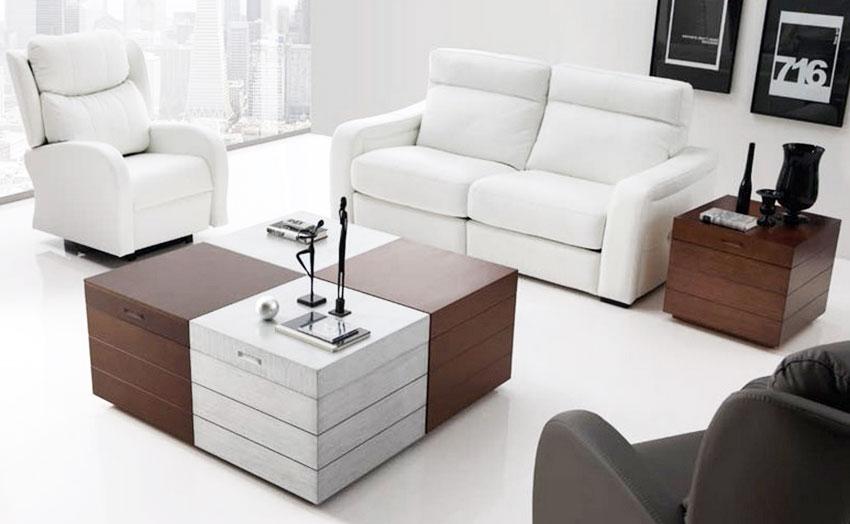 Mesa de centro elevable tipo arc n cubo mesas bajas de - Mesas salon elevables ...