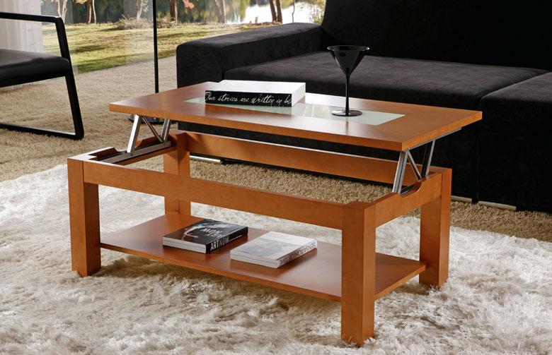 Mesa centro con bandeja elevable cristal rebaja sagunto - Mesa de centro plegable ...