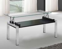 Mesa baja de sal�n tapa transparente - Tapa de cristal transparente.