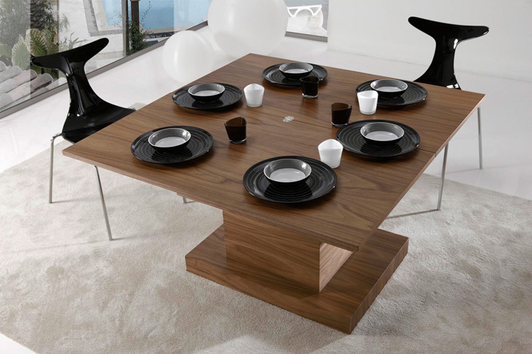 Mesa centro cristal con revistero mesas bajas sal muebles - Centros para mesa de comedor ...