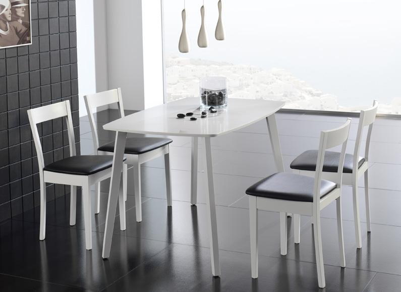 Mesa de cocina blanca for Mesa cocina blanca