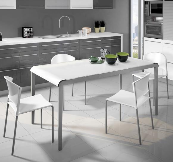 Mesa de cocina con curvas cocina y office mesas y sillas - Mesa cocina con sillas ...