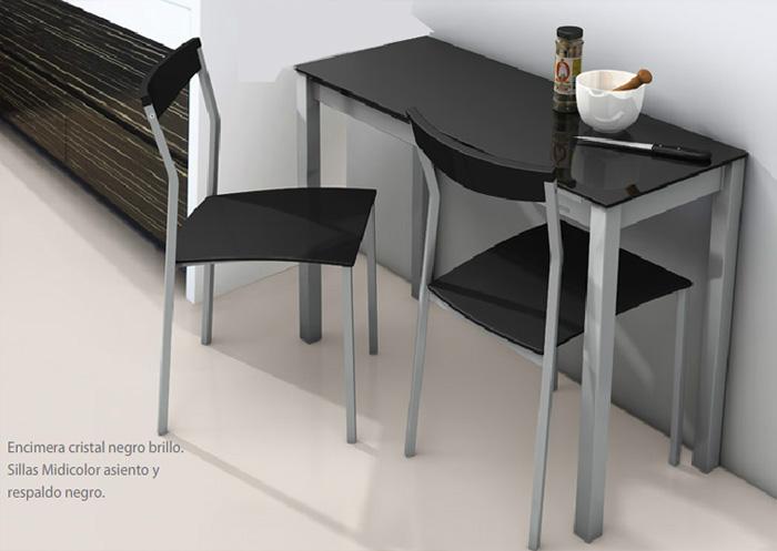 Mesa rectangular de cocina extensible cocina y office for Mesas de cocina pequenas