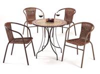 Set sillas y mesa mosaico modelo Evora