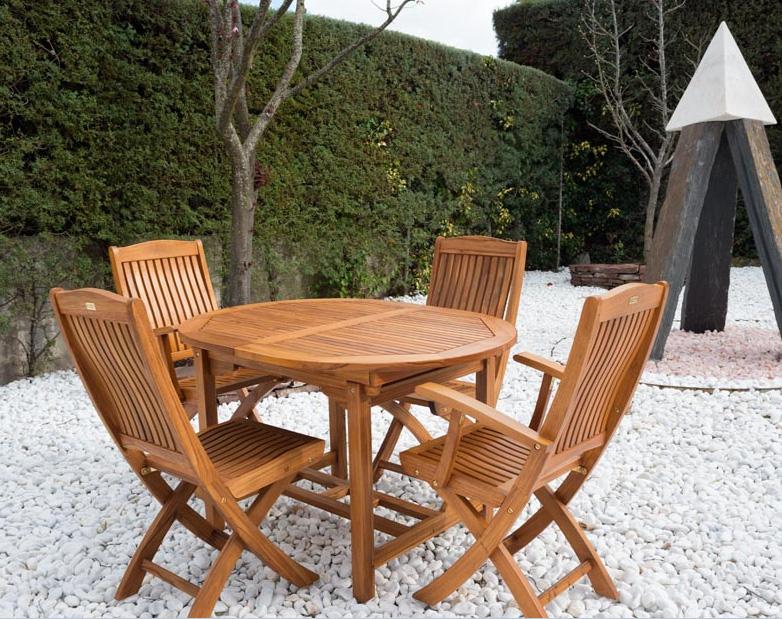 Mesa ovalada extensible madera teca maciza en oferta 2012 - Muebles de teca para jardin ...
