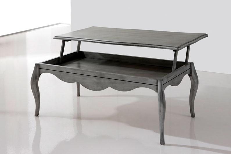 Mesa centro madera haya y tapa cristal car interior design for Mesa salon elevable ikea