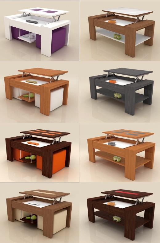 Mesa centro tablero elevable - Mesa centro elevable y extensible ...