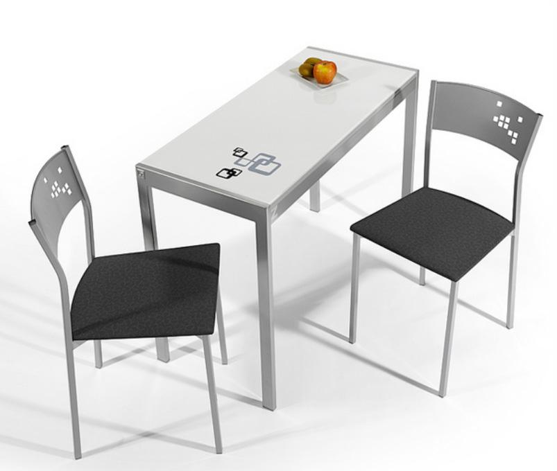 Mesa de cocina extensible cocina y office mesas y sillas for Mesa cocina estrecha