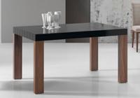 Mesa de comedor extensible Flash - Mesa de comedor extensible con tapa de cristal curvo