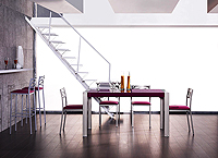 Mesa living cristal fija o extensible