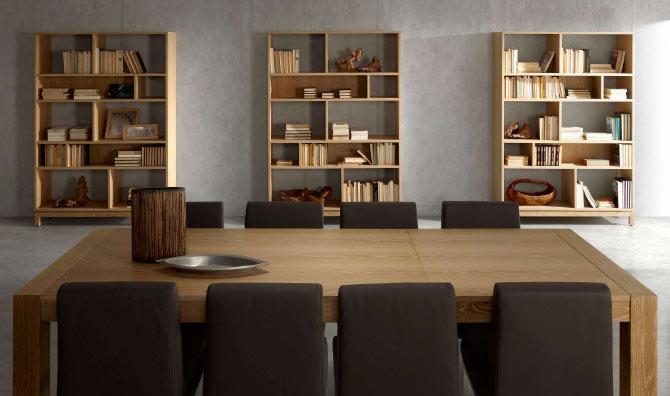 Mesa extensible de comedor madera natural oakland mesas de - Mesas comedor madera natural ...