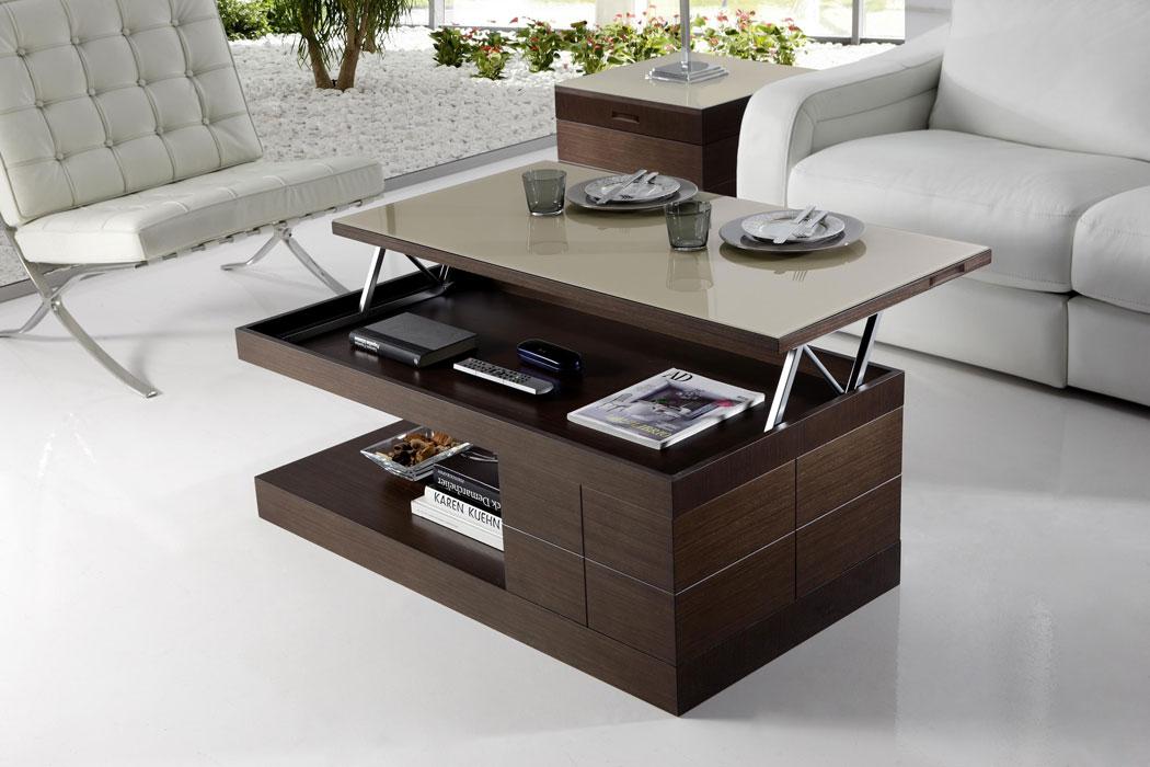 Mesas de centro modernas mesas de centro elevables - Mesas de centro de cristal ...