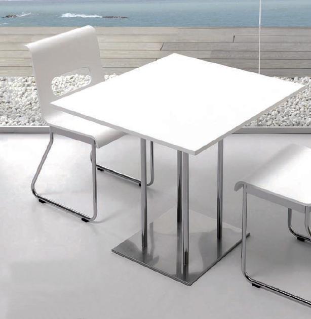 Mesa moderna de pata central for Mesa 70x70 extensible