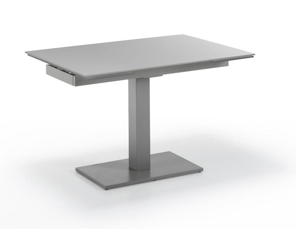 Mesa extensible con pata central mesas de comedor muebles for Mesa comedor pata central