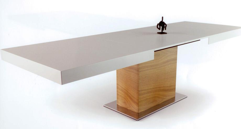 Mesa de comedor extensible pata central mesas de comedor, muebles ...