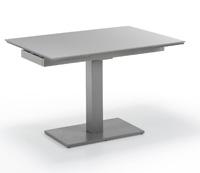 Mesa extensible con pata central