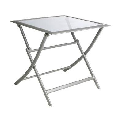 Mesa plegable para exterior de aluminio o sillones - Mesa plegable exterior ...