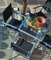 Mesa plegable para exterior de aluminio o sillones plegables