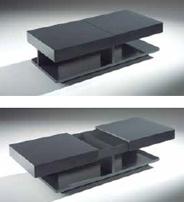 Mesa de centro rectangular con cajones 2 - Mesa de centro rectangular 2
