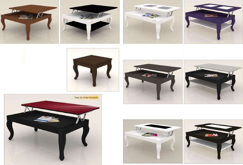 Mesa de centro vintage elevable for Patas para mesa de centro