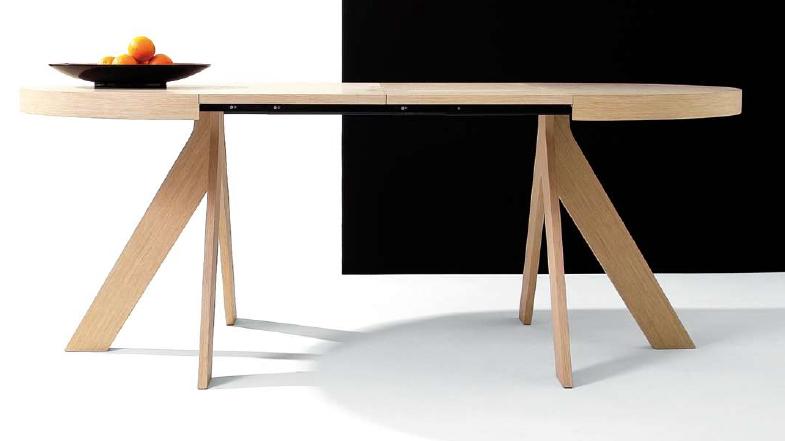 Mesa extensible de comedor haz mesas de comedor muebles for Mesas ovaladas para comedor