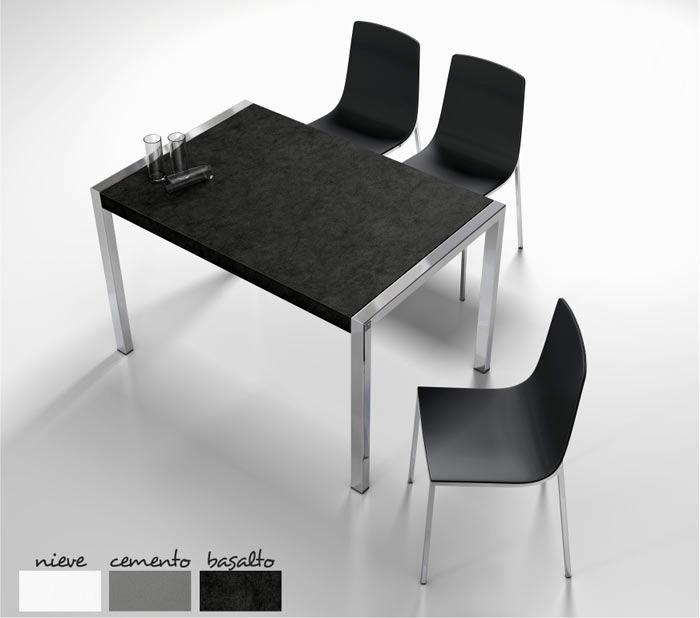 Mesas de cocina extensibles de colores - Mesa de cocina extensible cancio concept blanco ...