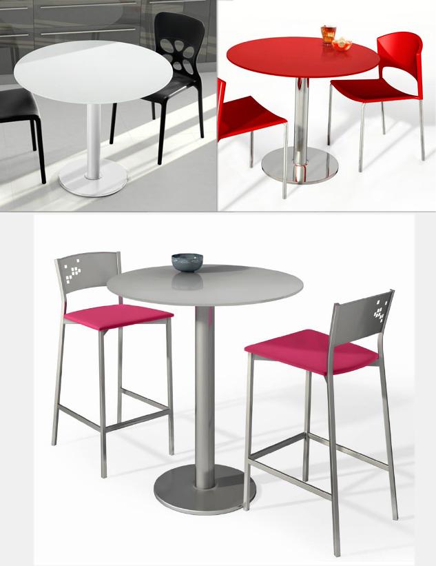 Mesas de cocina redondas for Mesa redonda cocina