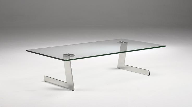 Mesa de centro acero y cristal - Mesa baja cristal ...