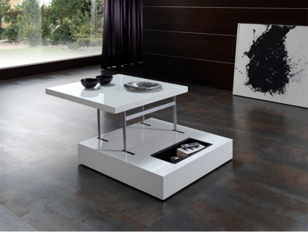 Mesa de centro elevable moderna for Mesas salon plegables diseno