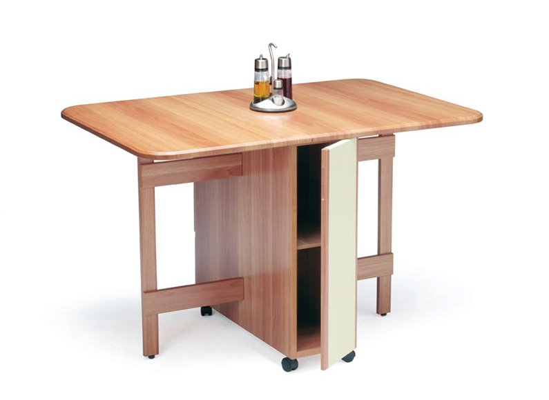Mesa de alas de cocina y cajones - Mesas de cocina plegables de pared ...
