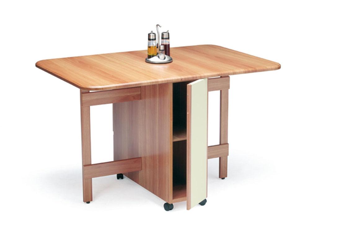 Mesa de alas de cocina y cajones for Mesa con cajones para cocina