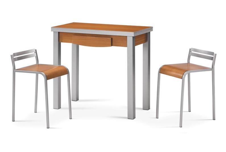 Mesa de cocina peque a y extensible economica for Mesa rinconera de cocina
