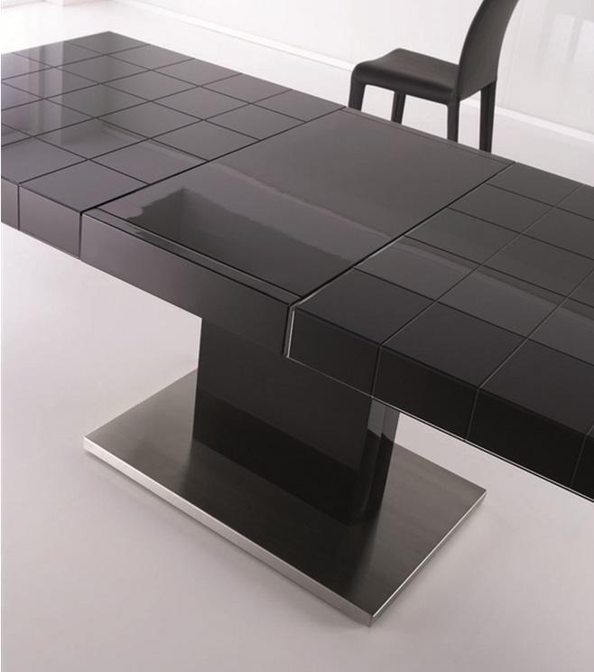 Lujosa y moderna mesa de comedor extensible - Mesas de comedor redondas extensibles modernas ...